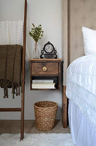 Floating Nightstand - Pine