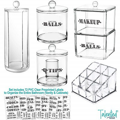 Talented Kitchen Bathroom Organizer Container Set