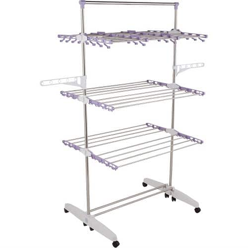 IT Jeans Classic 3-Tier 8 Casters Drying Rack