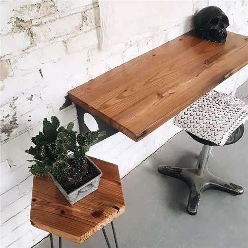 Industrial Rustic Pine Dining Table Desk