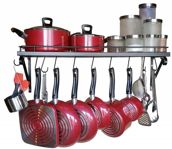 30 Wall mounted pots and pans rack_1