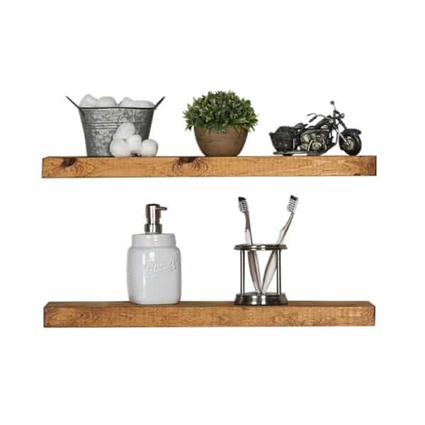 Floating Wall Shelves (Set of two), Handmade Kitchen Shelf Made from Rustic Pine by Del Hutson Designs_1