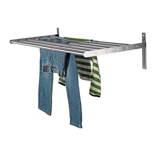 Ikea Wall Mount Clothes Drying Rack 26 3by8-47 1by4 inch Stainless Steel Drying Rack Grundtal