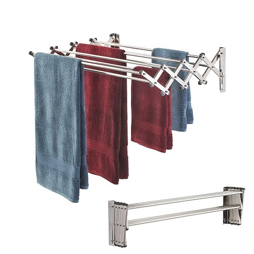 Wall Mount Clothing Drying Rack