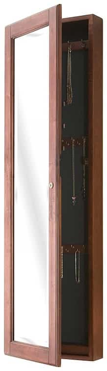 BOWERY HILL Wall Mounted Jewelry Cabinet-min