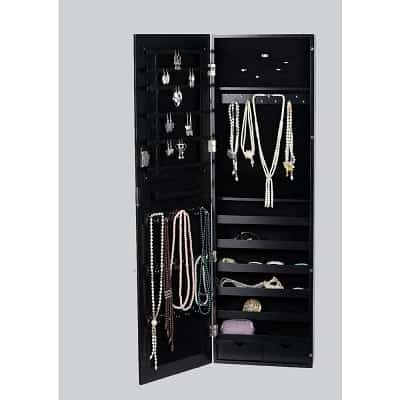 BTEXPERT Premium Wooden Wall Mounted Jewelry Cabinet-min