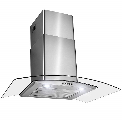 "Firebird 30"" Stainless Wall Mount Rangehood, Tempered & Powerful"
