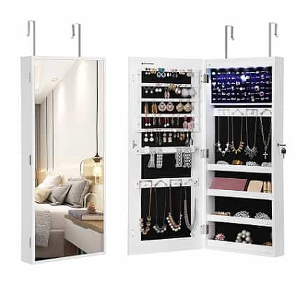 SONGMICS 6 LEDs Jewelry Cabinet-min