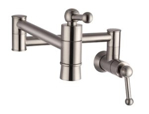 SARLAI S0005F Stainless Steel Pot Filler Brushed Nickel Faucet