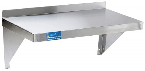 AmGood Stainless Steel Wall Shelf, Wall Mounted Kitchen Table