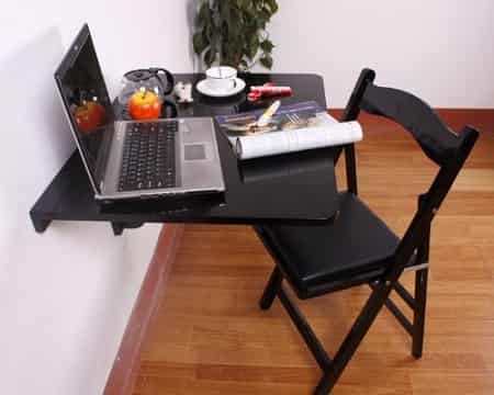 Haotian Folding Wall Mounted Kitchen Table Desk FWT01-SCH-FBA