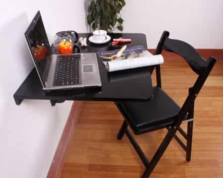 Haotian Folding Wall Mounted Kitchen Table Desk FWT01-SCH-FBA