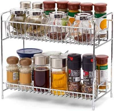 Ezoware 2 Tier Free-standing Countertop Multi-purpose Rack