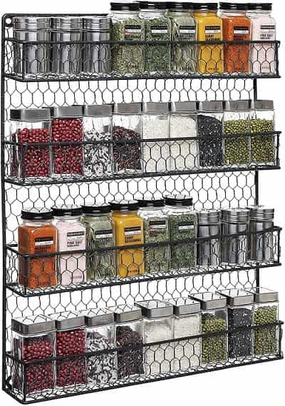 MYGIFT Country Rustic Chicken Wire Storage Organizer