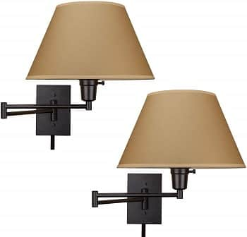 Kira Home Cambridge 13 inches Swing Arm Wall Lamp