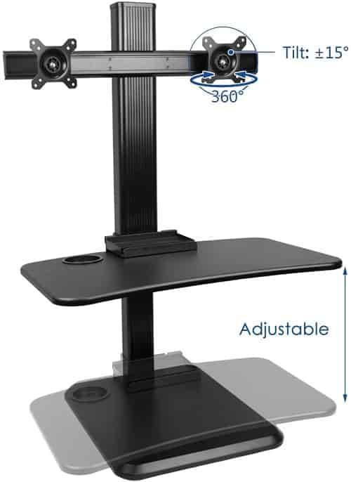 Dual Ergonomic Adjustable Dual Monitor Wall Mount