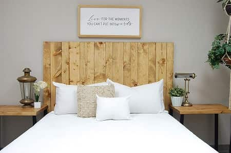 Golden Oak Queen Size Wall Mounted Headboards