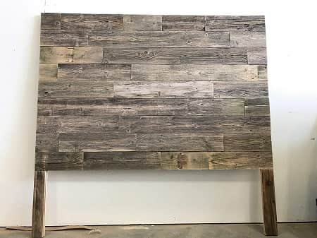 Modern Industrial Reclaimed Wood Wall Mounted Headboard