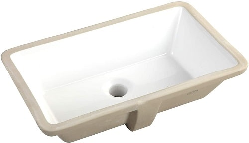 20.9 Inch Rectangle Under-mount Vitreous Ceramic Lavatory Sink