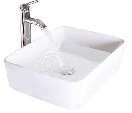 LUCKWIND Bathroom Sink Ceramic Vanity Top