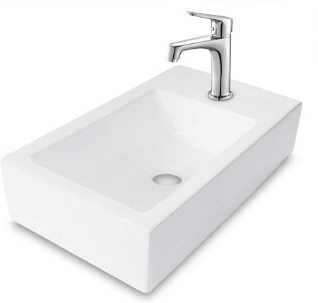 Lordear LGP1810 Bathroom Wall Mount Rectangle Corner Sink