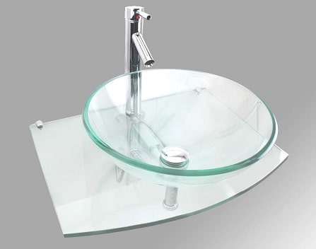Tempered Glass Wall Mount Sink